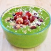 Vegan Mofo: Sweet and Savory Green Smoothie Bowl