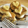 Vegan Valentine's Day: PB Pancake Sandwiches + Banana Hearts