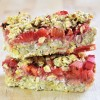 Vegan Chickpea Strawberry Rhubarb Bars