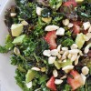 Vegan Strawberry and Kale Summer Salad