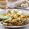 Roasted Garlic Achaar Tofu Scramble