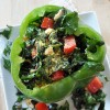 Raw Kale Salad Stuffed Peppers