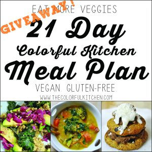 Eat more veggies giveaway!