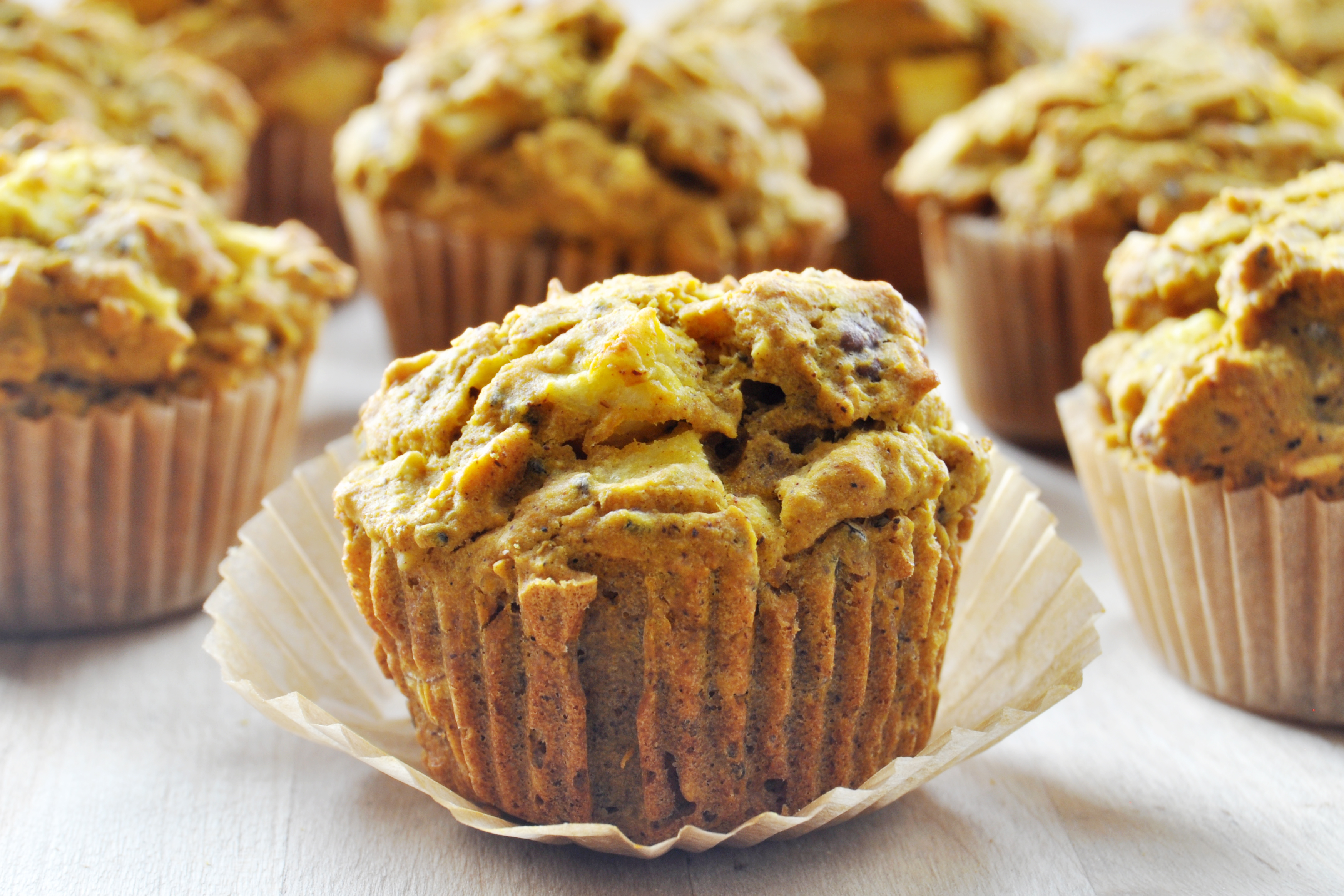 Pumpkin Apple Spice Muffins, Vegan + Gluten-Free - The ...