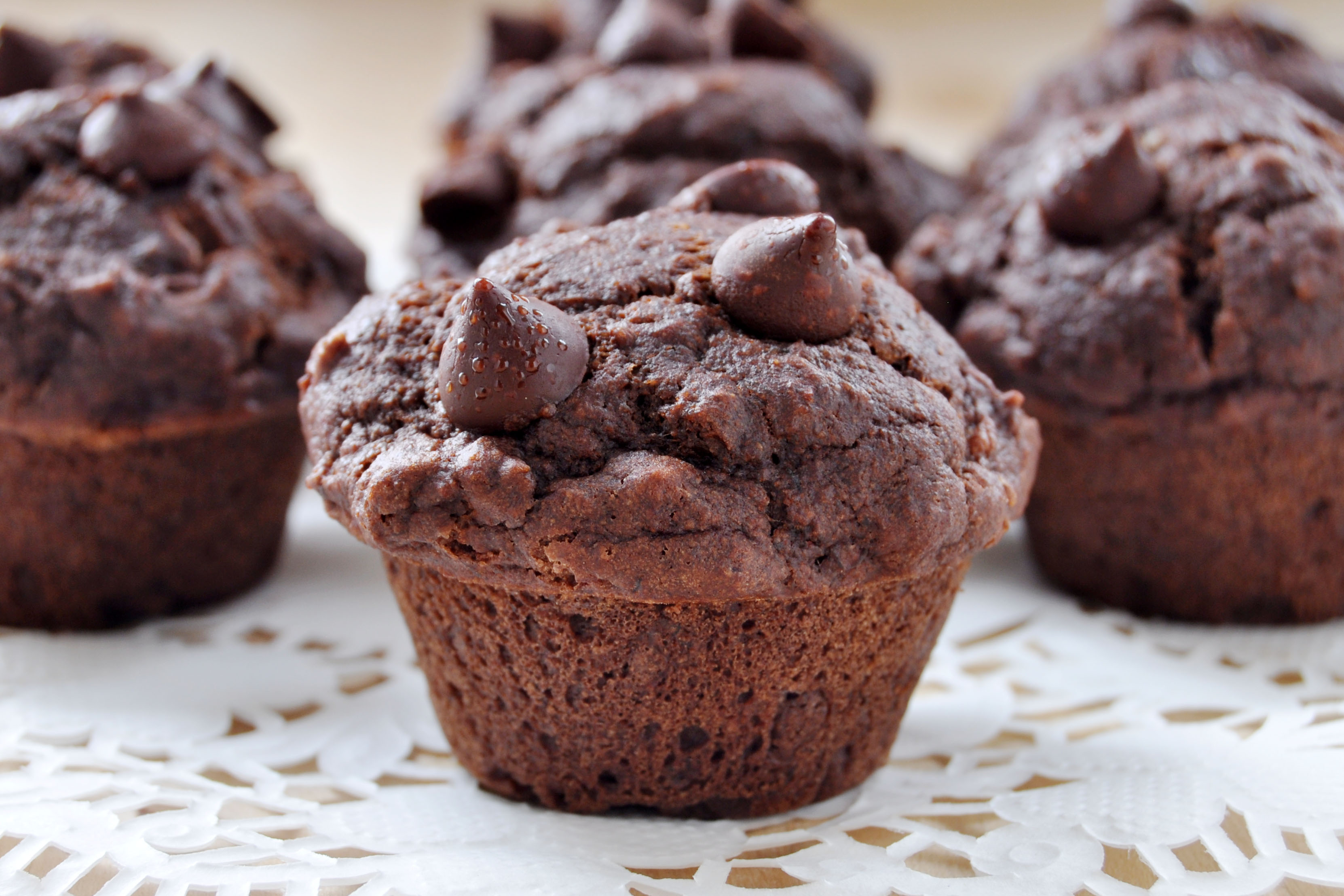 Vegan, Gluten-Free Double Chocolate Muffins- The Colorful Kitchen