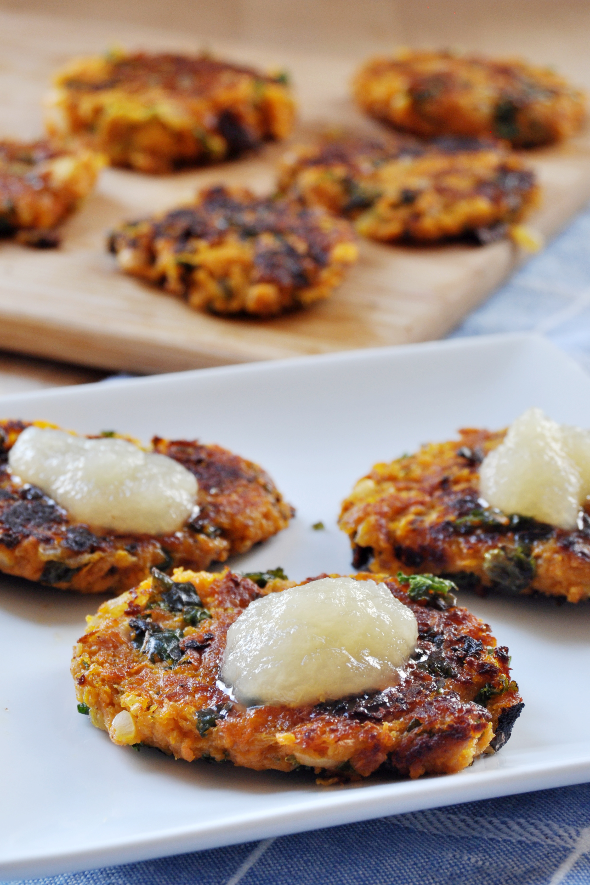 Vegan, Gluten-Free Chanukah: Sweet Potato and Kale Latkes - The ...