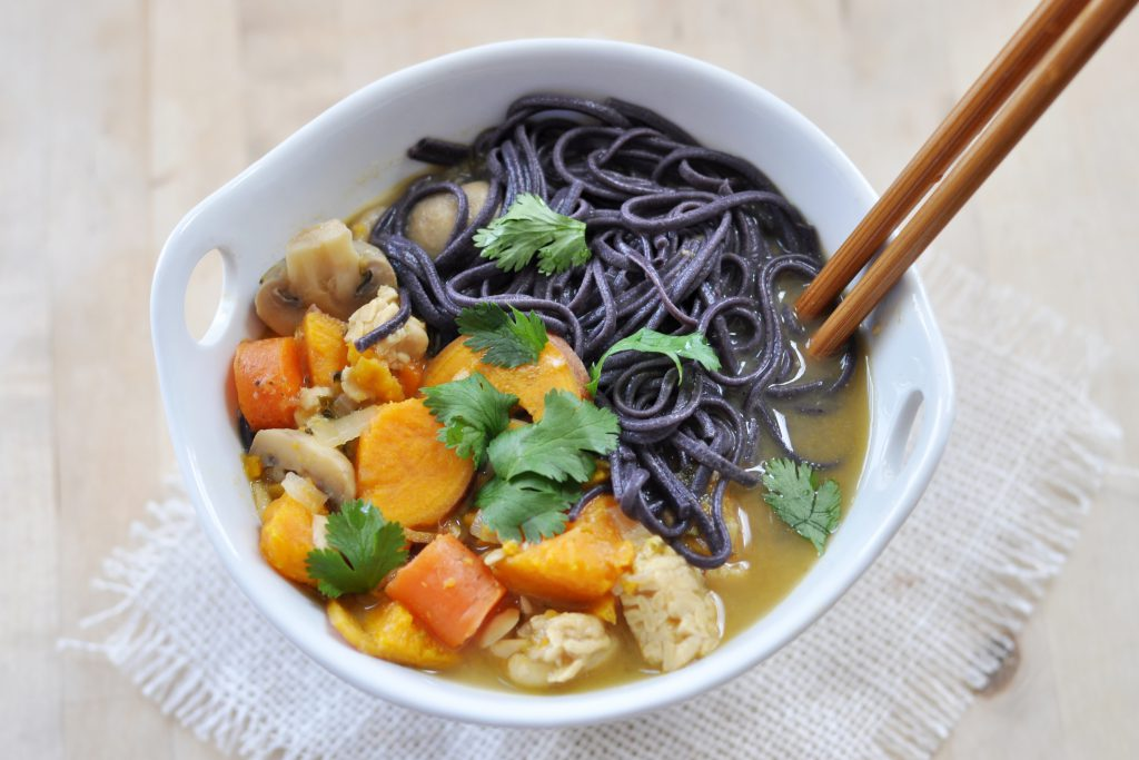 Thai Coconut Curry Noodle Soup , Vegan + Gluten-Free - The Colorful ...