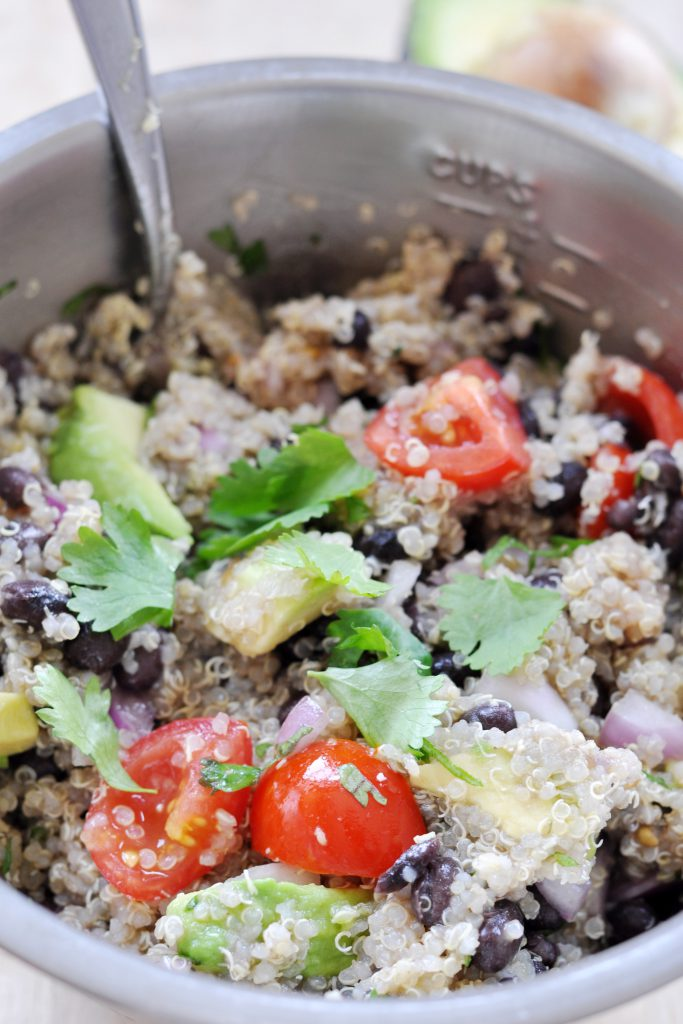 Black Bean, Quinoa and Avocado Salad, Vegan Gluten-Free 2