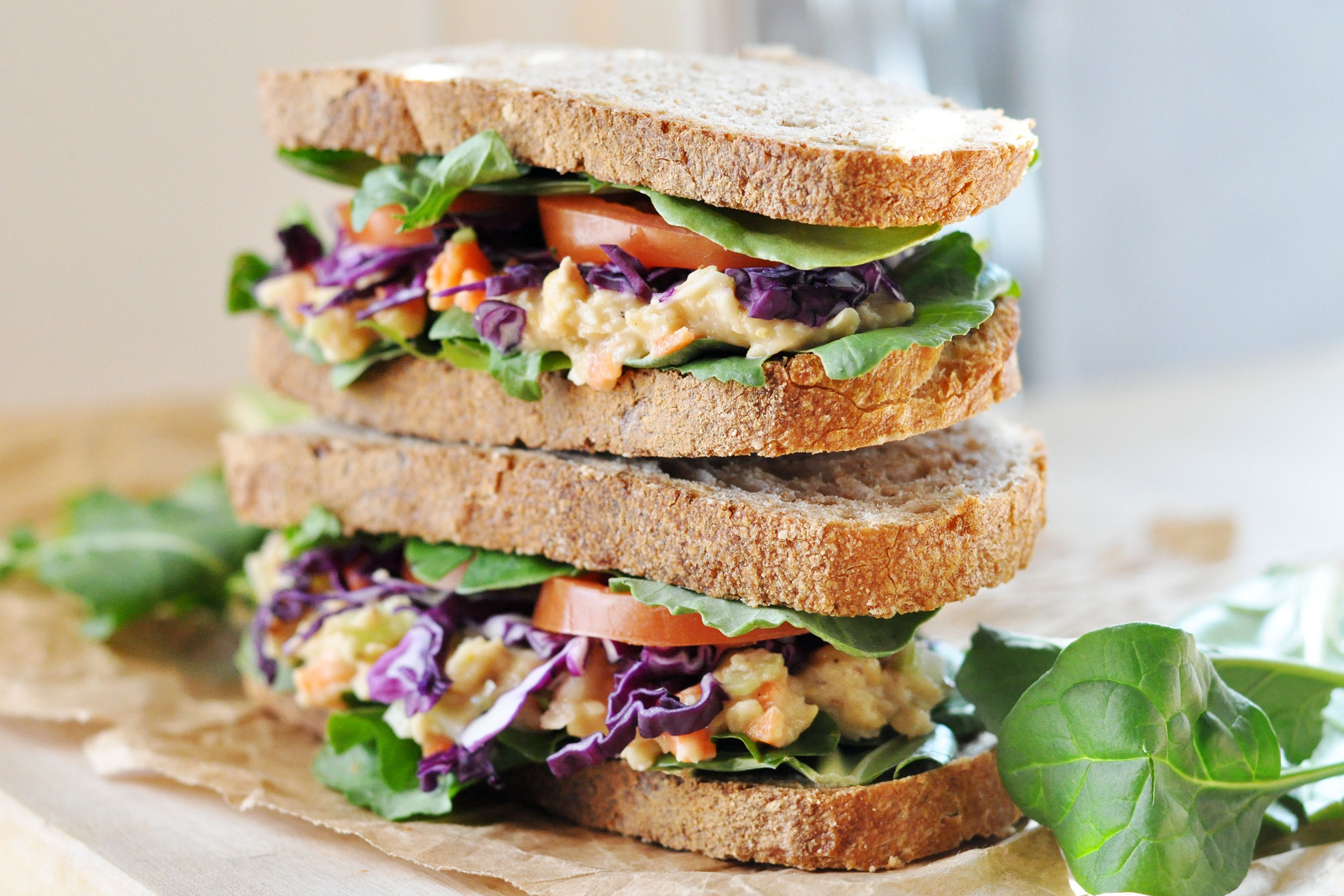 easy vegetarian sandwiches for school