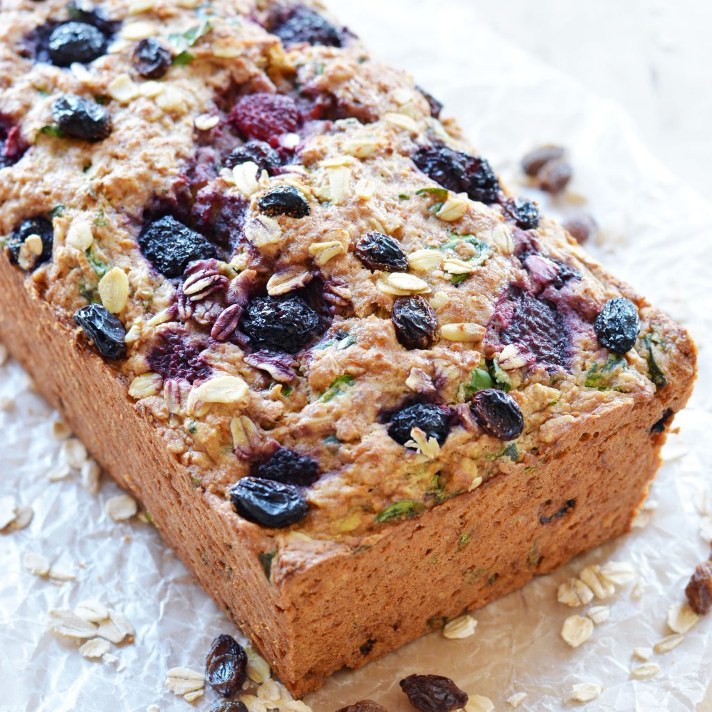 healthy fruit loaf colorful fruit
