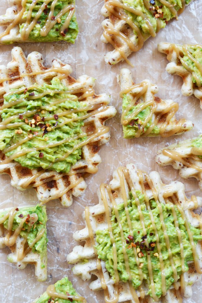 Maple-Tahini Avocado Waffles Vegan Gluten-Free