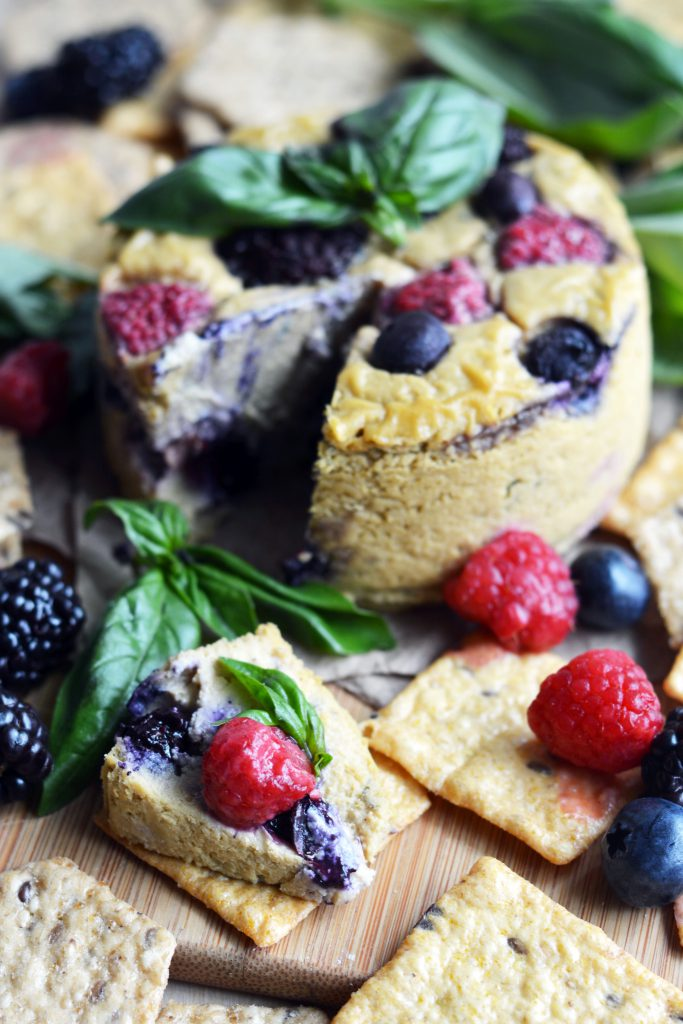 Baked Berry-Basil Cheese, Vegan & Gluten-Free