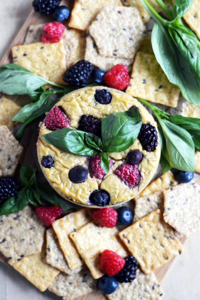 Baked Berry-Basil Cheese, Vegan & Gluten-Free 2