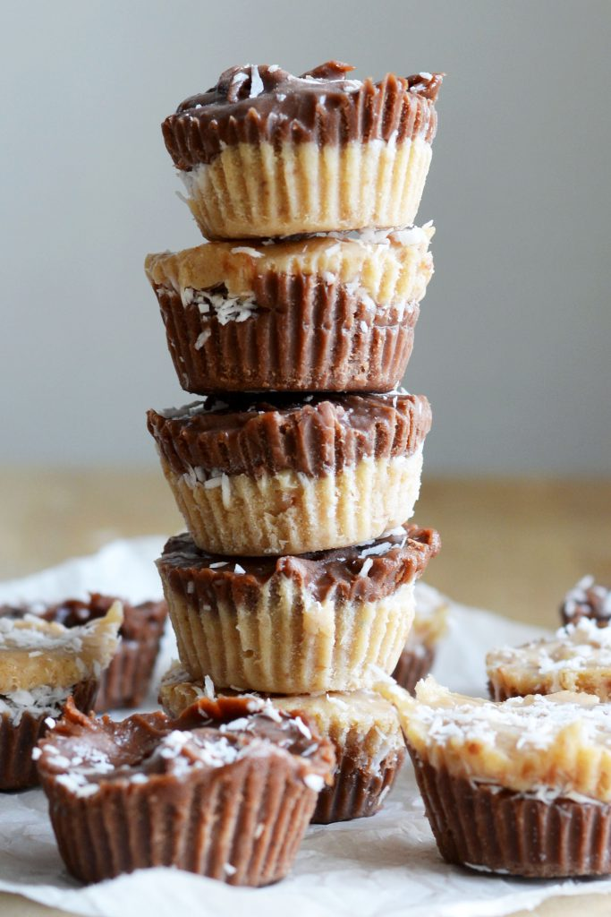 No-Bake Tahini Chocolate Fudge Cups