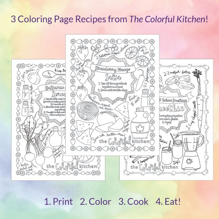 The Colorful Kitchen Recipe Coloring Pages!