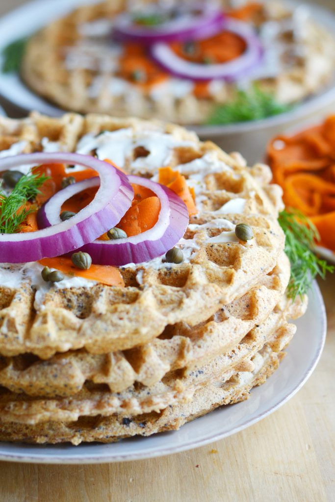 Everything Bagel Waffles Vegan 2