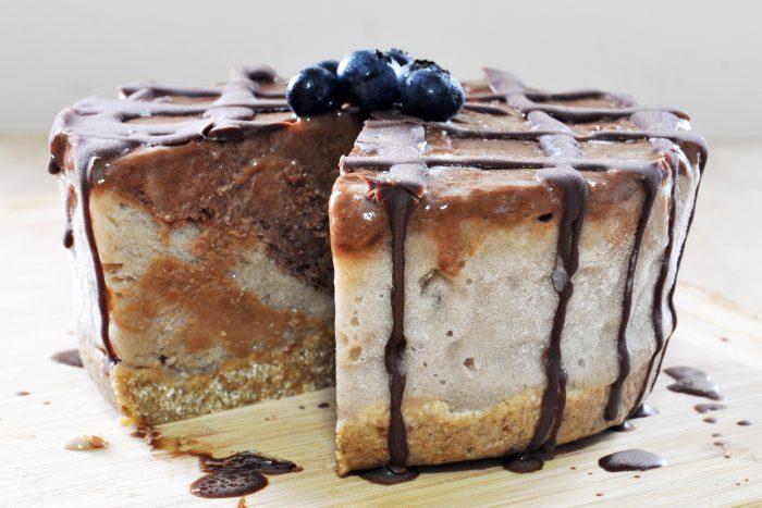 Raw Vegan Breakfast Ice Cream Cake