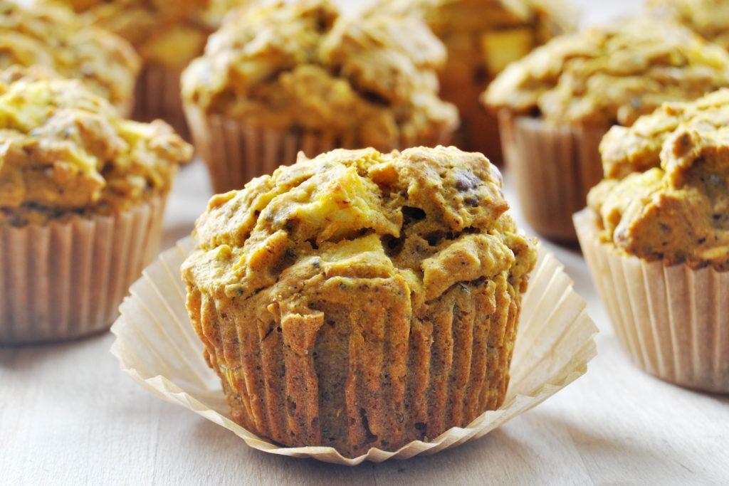 Pumpkin Apple Spice Muffins Vegan Gluten Free The