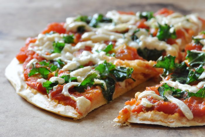 Easy Vegan Gluten Free Chickpea Crust Pizza