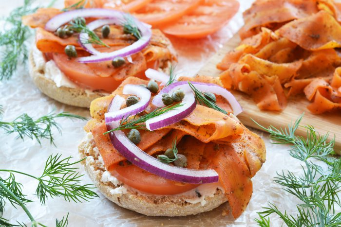 vegan carrot lox the colorful kitchen