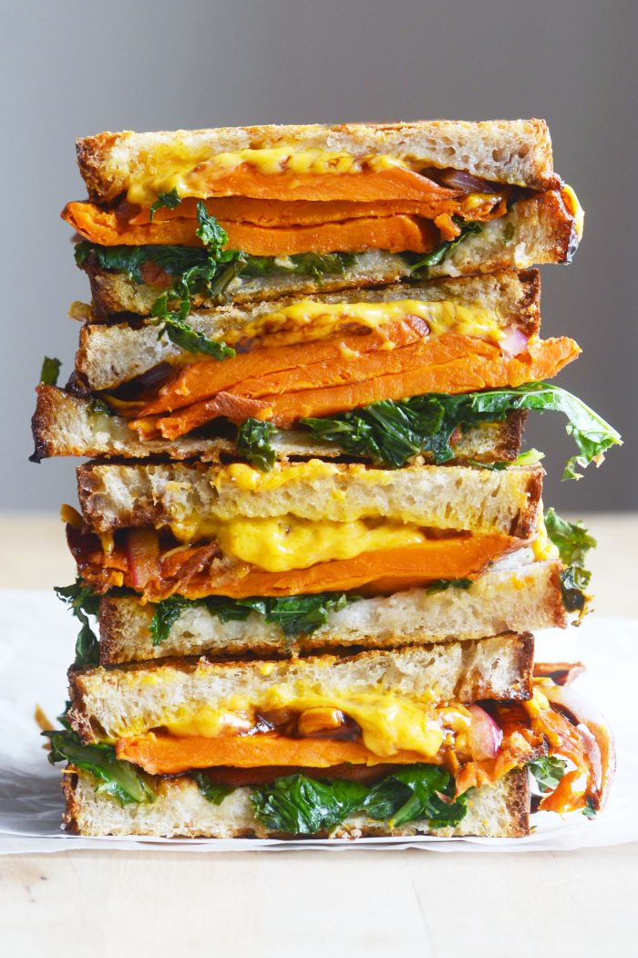 Vegan Balsamic Sweet Potato Grilled Cheese Sandwich The Colorful Kitchen
