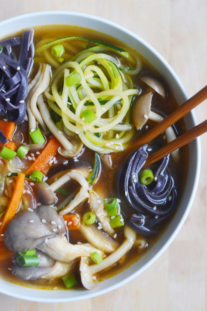 Easy Veggie Ramen, Vegan & Gluten-Free - The Colorful Kitchen